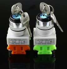 Lay37 22mm interruptor giratório 2/3 posição botão chave giratória 1no/1nc e 2no interruptor giratório dpst que trava o interruptor 660 v ui 10a ith