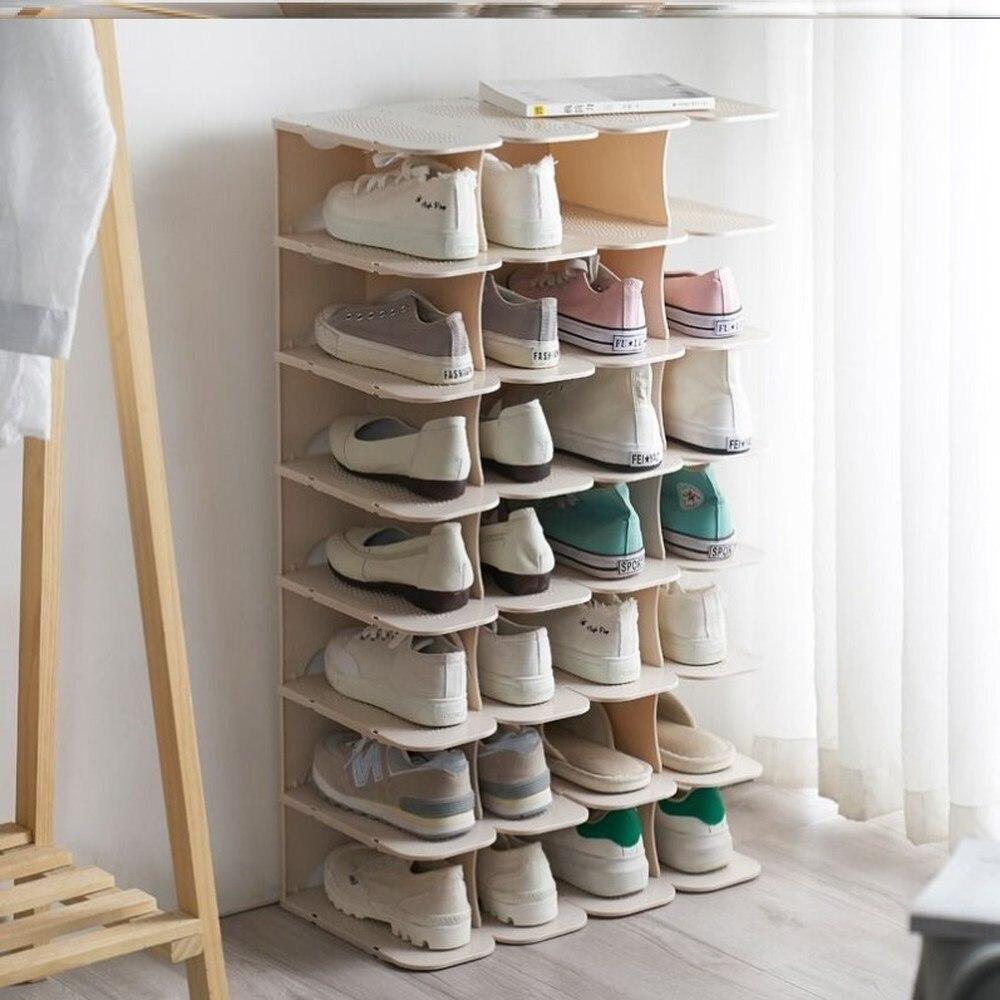 شماعات أحذية قابلة للطي ، إبداعية ، موفرة للمساحة ، رف تخزين ، متعدد الطبقات ، منظم خزانة WF1107