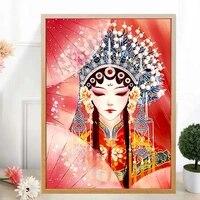 Toile Peinture Affiches Pekin Opera Caracteres Chinois Style Huadan Mur Art Image pour Salon Decoration Maison Deco