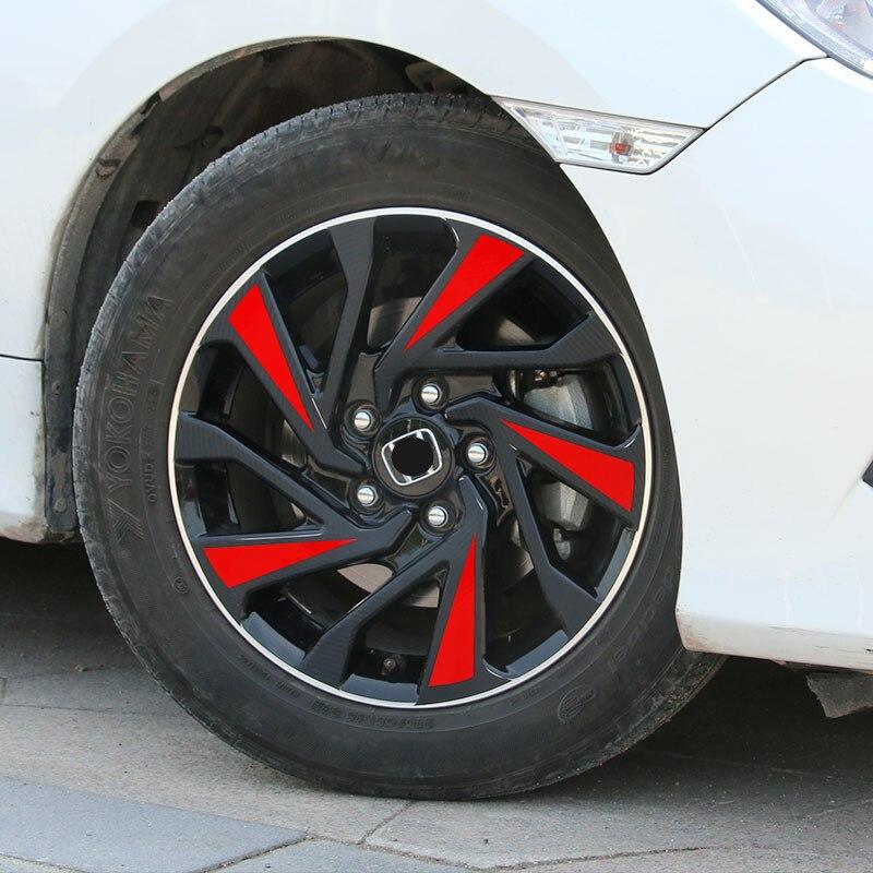 Pegatina cubo de rueda de coche accesorios de decoración de estilo deportivo para 4 ruedas 16 pulgadas 17 pulgadas para Honda Civic 2019 2018 2017 2016