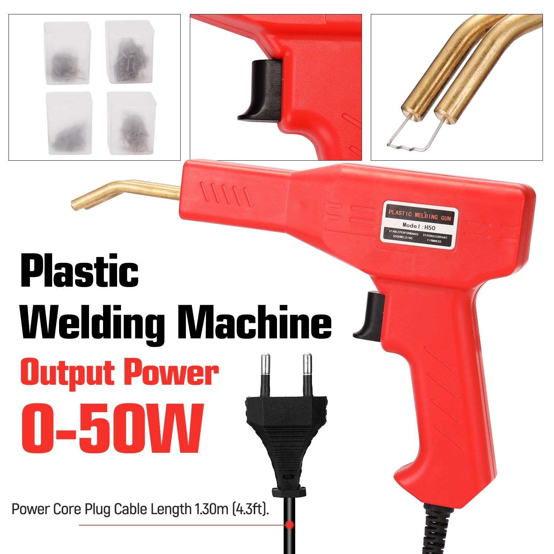 50W Handy Plastic Welder Garage Tools Hot Staplers Machine Staple PVC Plastic Repairing Machine Car Bumper Repair Hot Stapler