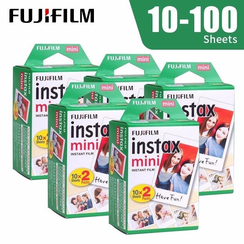 Fujifilm Instax Mini 9 Film White Edge 10 20 40 60 100 Sheets/Packs Photo Paper for Fuji instant camera 8/7s/11/25/50/90/sp-2