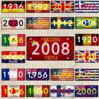 Signe metallique en etain de voyage  30x15cm  2020  Plaque numerique retro pour mur  boutique dart  Restaurant  cinema  decoration de la maison  DC-0991A