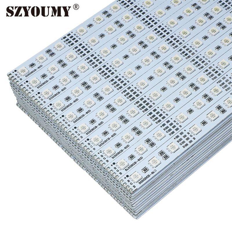 SZYOUMY-شريط إضاءة Led صلب ، 100 RGB ، 60 شريط إضاءة Led فائق السطوع ، DC12V ، 5050 قطعة
