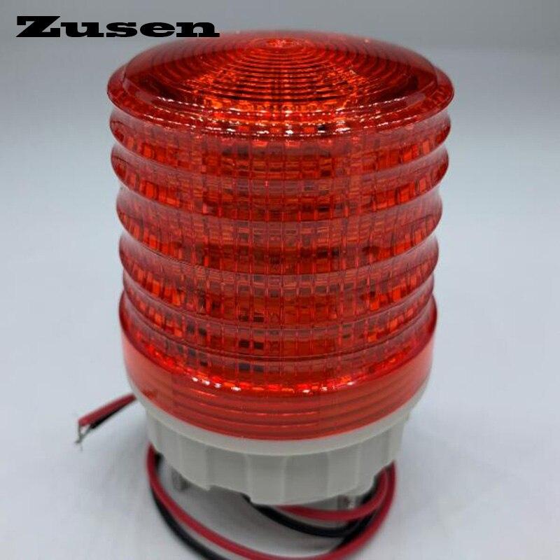 Zusen tb5051 220v três cores sinal lâmpada luz de advertência led pequena luz intermitente