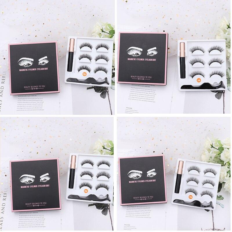 5d vison cílios fuax natural cílios falsos fofos cílios dramáticos cílios extensão magnético eyeliner