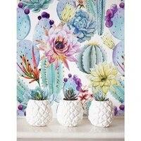 Style nordique 5d bricolage diamant peinture plantes succulentes  broderie de diamant  mosaique de diamant 3d  point de croix doux decor a la maison BY797