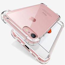 Luxus Stoßfest Silikon Telefon Fall Für iPhone 7 8 6 6S Plus 7 Plus 8 Plus XS Max XR 11 fall Transparent Schutz Zurück Abdeckung