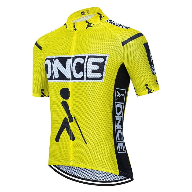 Equipe uma vez camisa de ciclismo pro bicicleta maillot roupas esportivas das mulheres dos homens ropa ciclismo roupas superiores