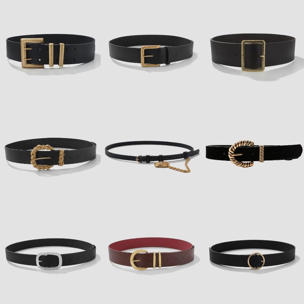 Miwens – ceinture en cuir à Double couche pour femmes, avec boucle carrée, en métal spécial, bijoux de taille, 2021 ZA