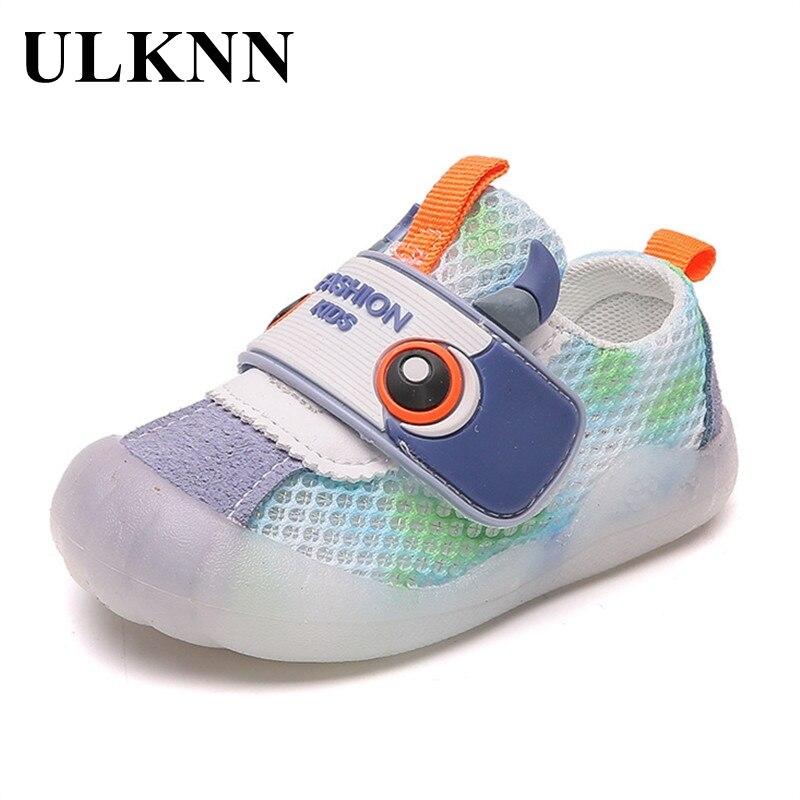 ULKNN Baby Bottom Cute Toddler Sandals 0-3 Years Old Girls Cartoon Gradient Breathable Mesh Children's Shoes Wholesale Boy shoe