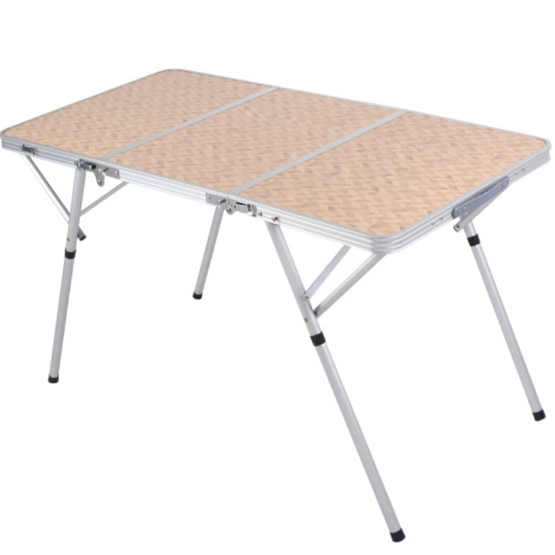120CM3 Folding Small Folding Table Height Adjustable Aluminum Alloy Outdoor Camping Barbecue Tables enlarge