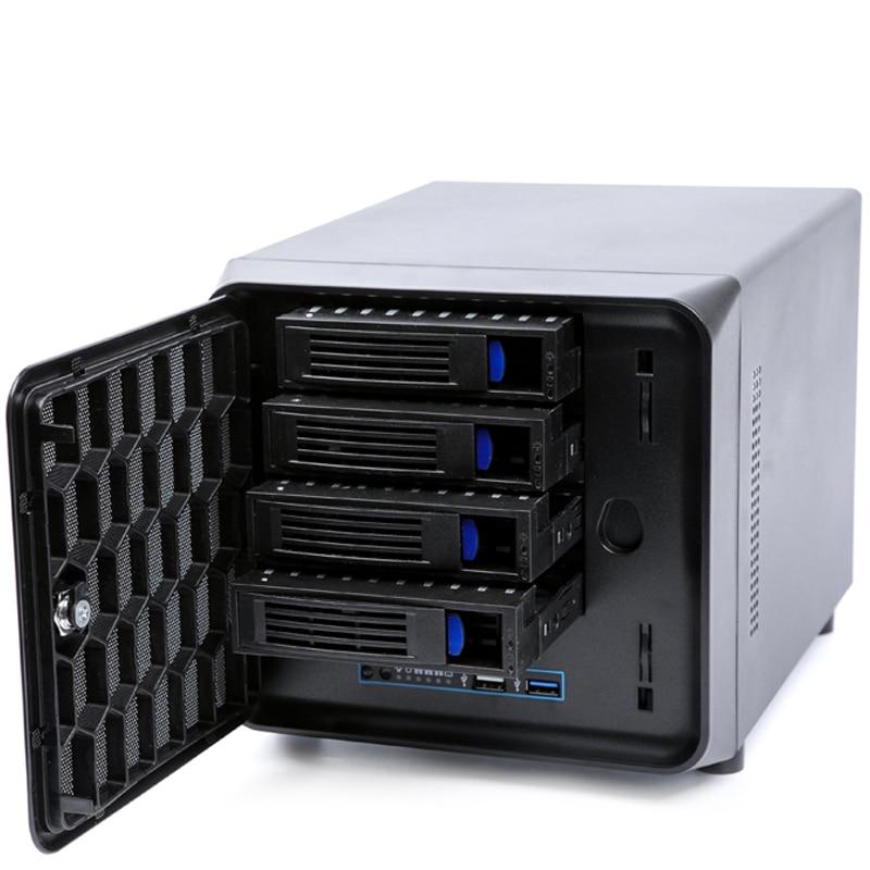 2020 nouveau châssis de serveur NAS à échange à chaud de 4 baies avec 200W 80PLUS améliorent lalimentation