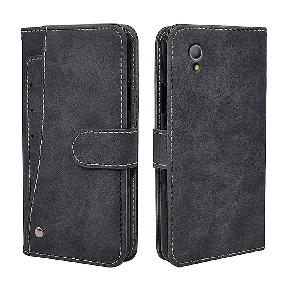 Роскошный Винтажный чехол для Alcatel 1 1S 1X 1C 5033D 5024D 5009 5059D чехол Флип кожаный силиконовый чехол-бумажник TPU с держателем для карт