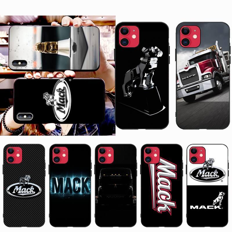 Nbdruicai americano pesado mack trucks tpu macio silicone caso do telefone capa para o iphone 11 pro xs max 8 7 6 s plus x 5S se xr caso