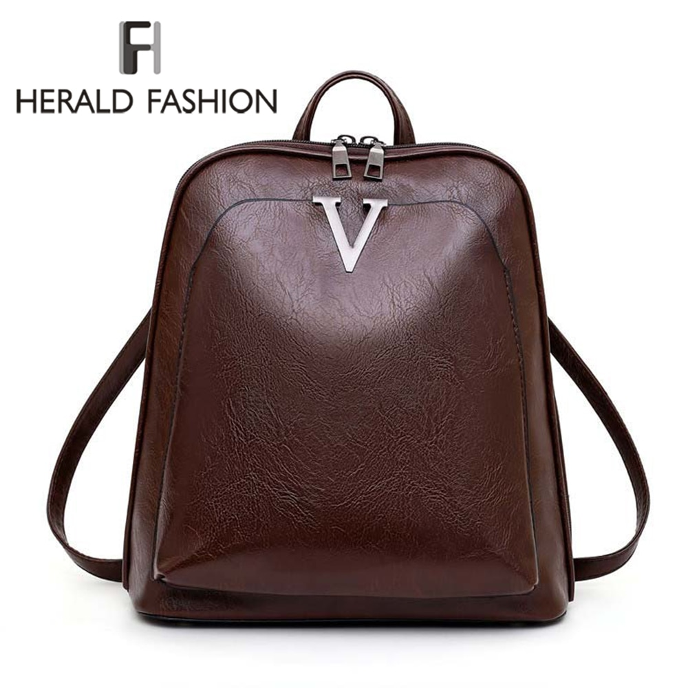 Mochila de viaje de moda 2020 para mujer, mochila de mujer de cuero PU con cremallera, mochila de mujer antirrobo, mochila escolar informal para mujer