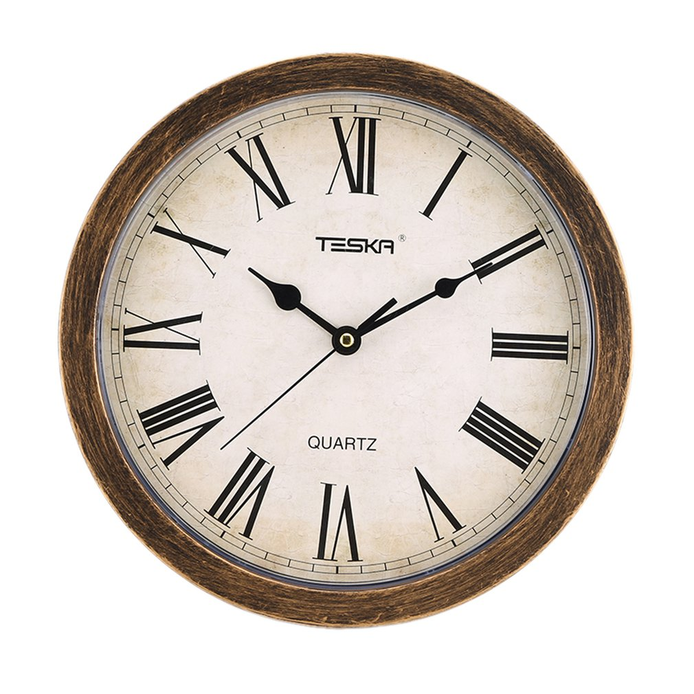 Nordic Style Vintage Round Shape Unique European Mute Wall Clock Storage Box for Home Living Room Decoration Free shipping