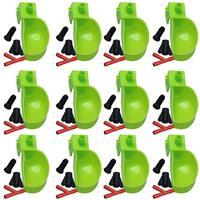 Поилка для птиц 12 шт., автоматические подвесные чашки для голубя, попугая, перепелов, кормушка для птиц