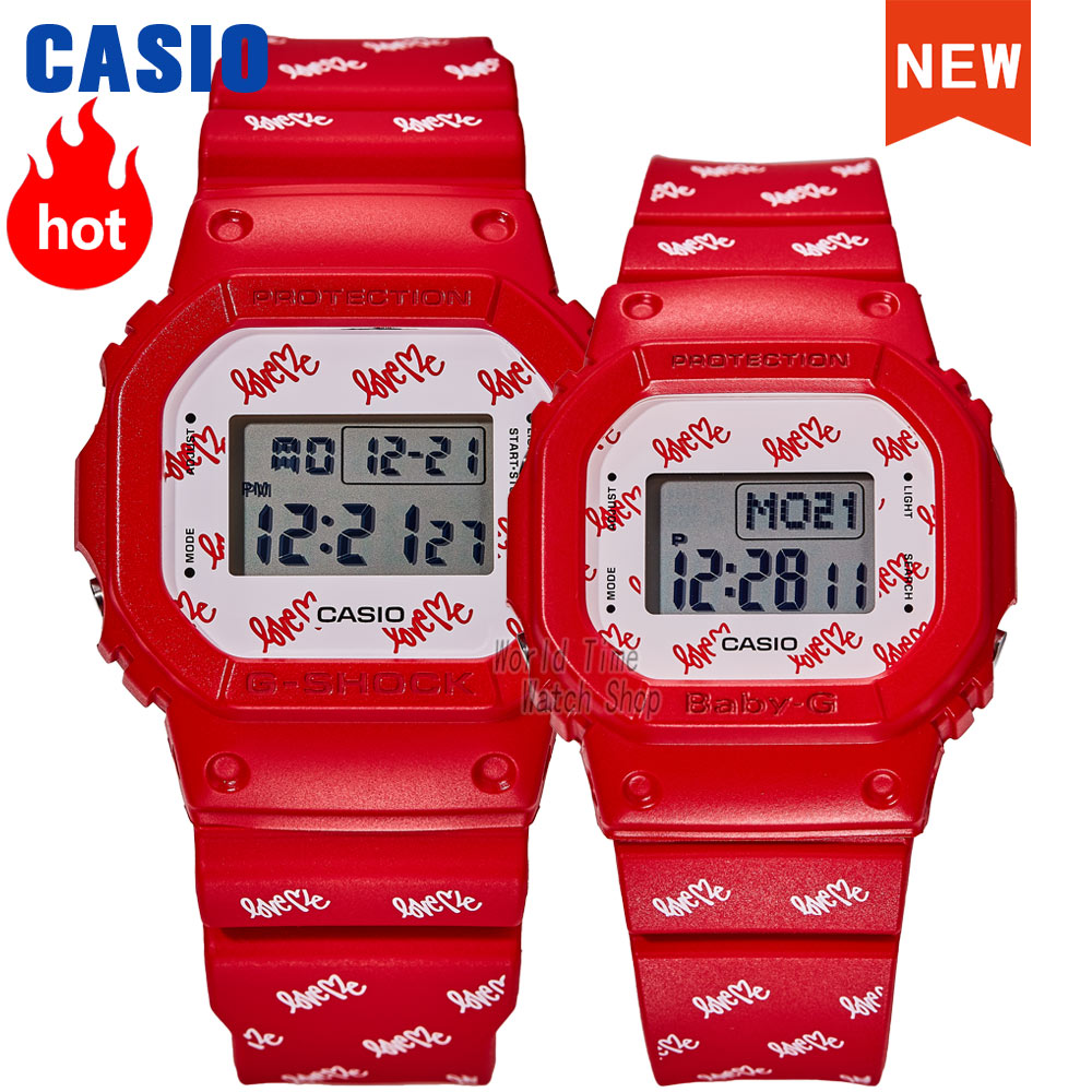 Casio watches men's and women's watches quartz brand luxury new year and christmas gift box joint limited couple diver watch set