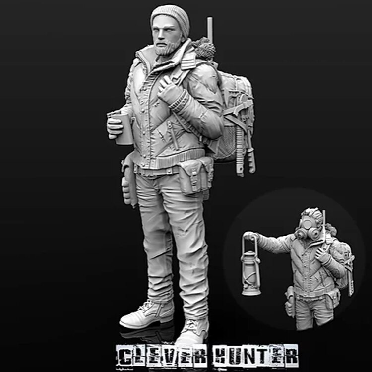 Modelo de figura de resina 1/35 GK Clever Hunter incluye dos estados sin montar y kit sin pintar