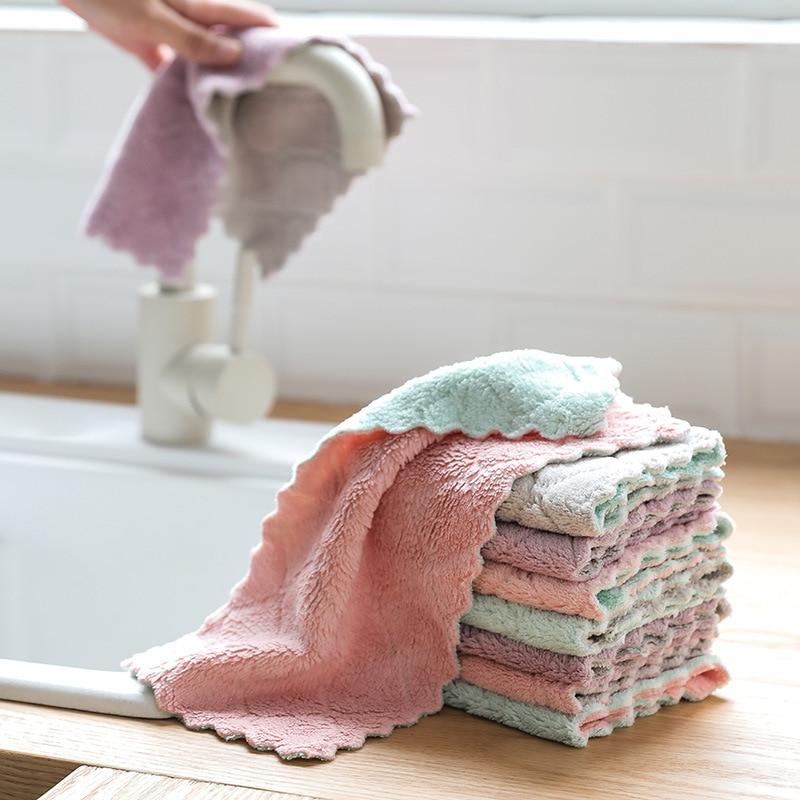 Casa super absorvente pano de limpeza de microfibra pano pano de cozinha prato pano de limpeza toalha de lavagem pano de prato
