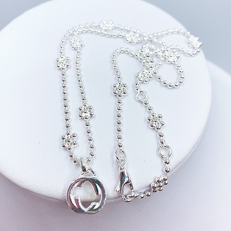 1:1 Exclusive Sale Beads Romance Necklace Women Valentine Warm Jewelry S925 Sterling Silver Original Logo Hot Sell Gift