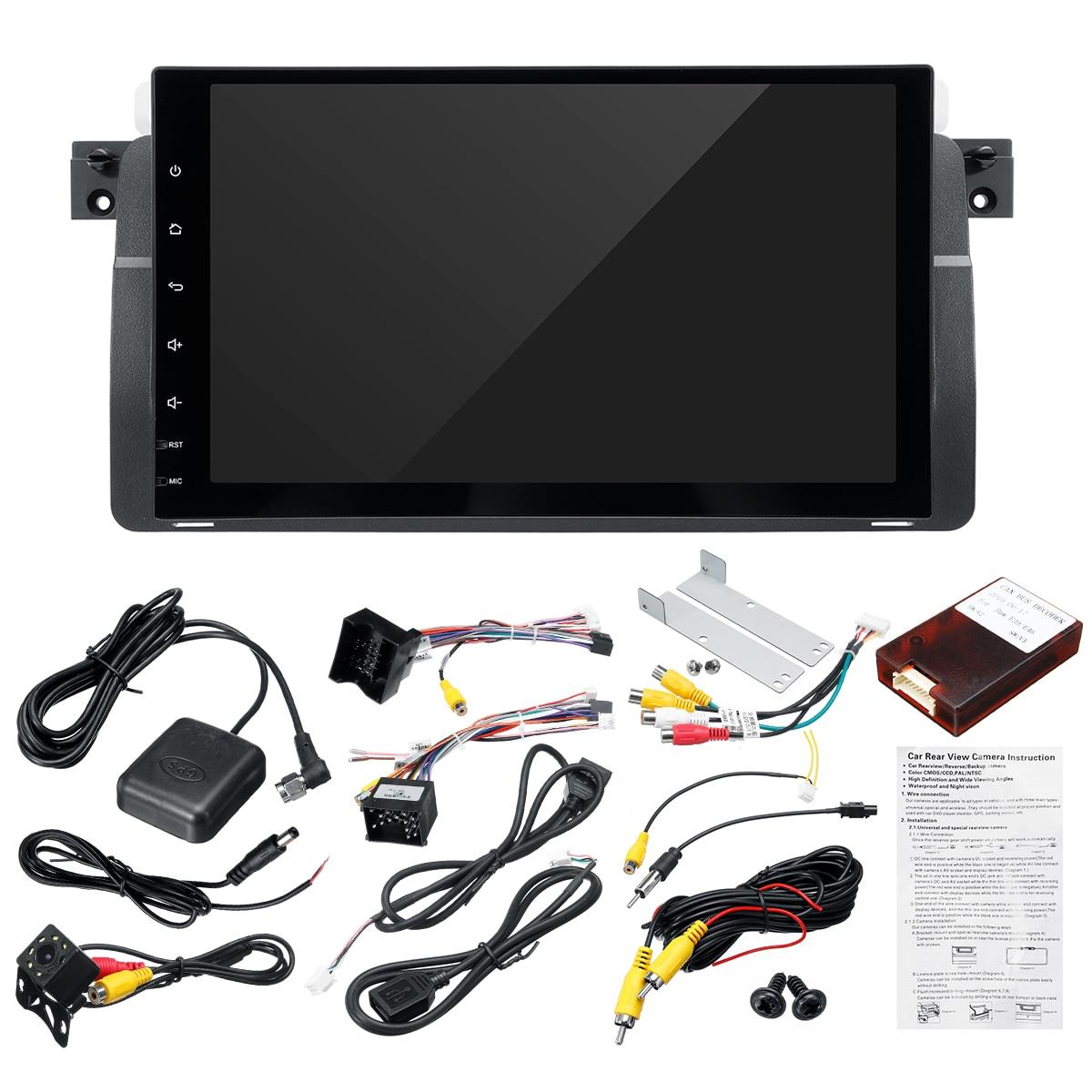 """9 """"1 Din Multimedia Android 8,0 1 + 1 + 16G Wifi bluetooth cámara de copia de seguridad DVR RDS USB Gps navegación para BMW E46 M3 Rover 75 MG ZT"""