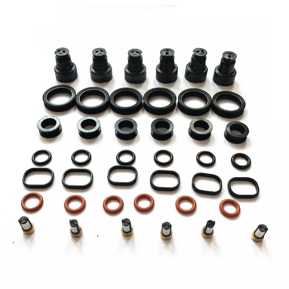 6 conjuntos para lexus rx300 kits de serviço de reparo do injetor de combustível para a parte 23209-20020, 232090a010, fj10303, fj10542 para AY-RK101