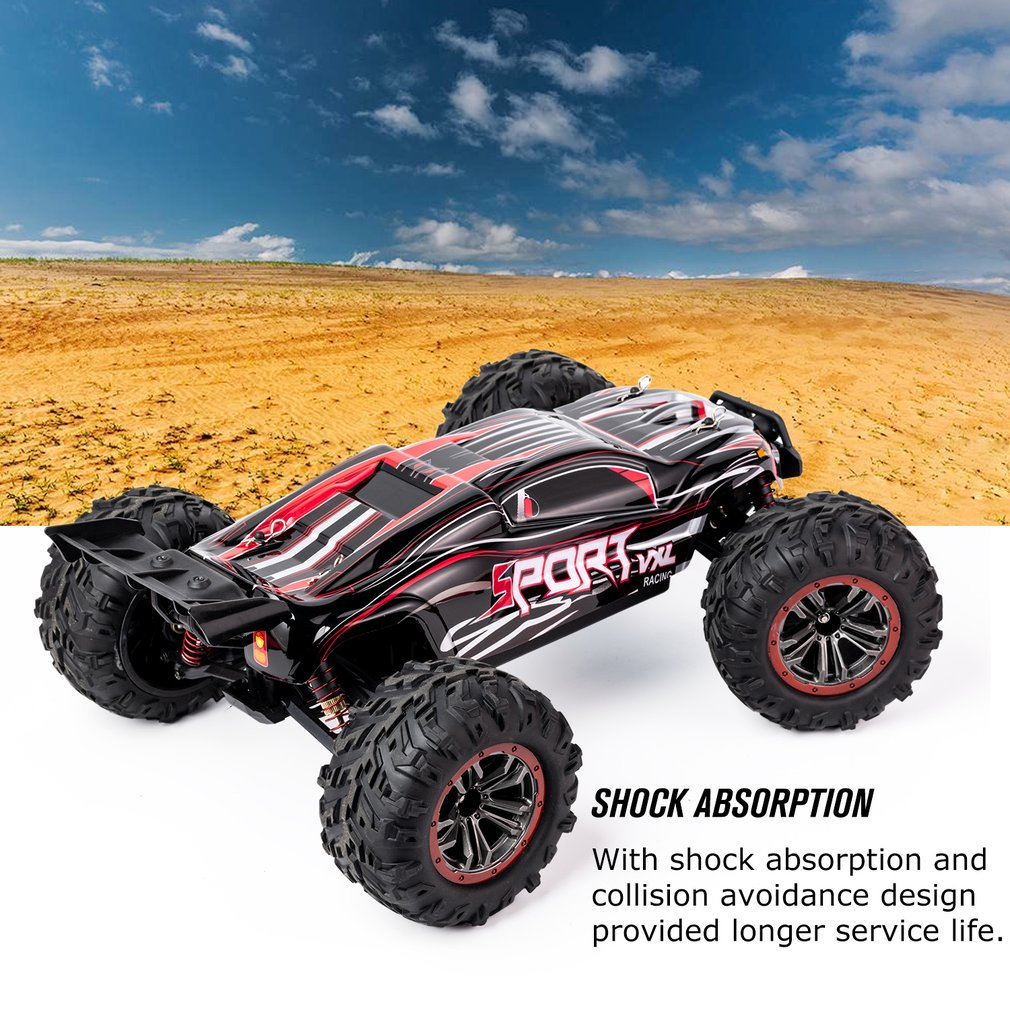 1/10 Scale 2.4Ghz 4WD 60 km/h High Speed RC Bigfoot Big Wheels Off-Road Rock Race Truck Electric RC Remote Control Car Model Toy enlarge