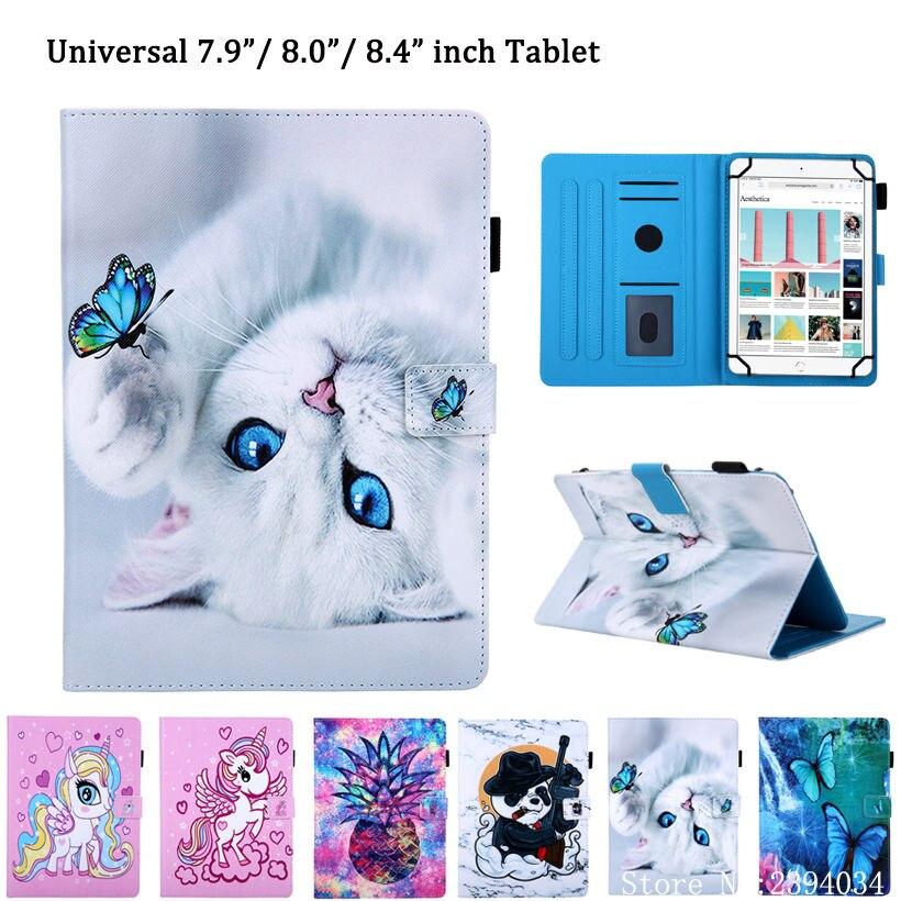Funda universal para tablet de 8 pulgadas, Funda para Huawei MatePad T8 para samsung galaxy tab A 8,0 2019 SM-T290, Funda SM-T295, carcasa bonita de gato