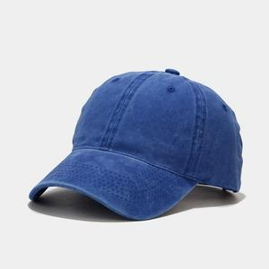 2021 four seasons solid cotton Casquette Baseball Cap Adjustable Snapback Hats for men and women 03