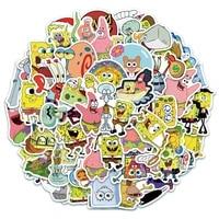 103050pcs anime cartoon spongebobs graffiti luggage skateboard anti decorative diy waterproof cute stickers gift kids toys