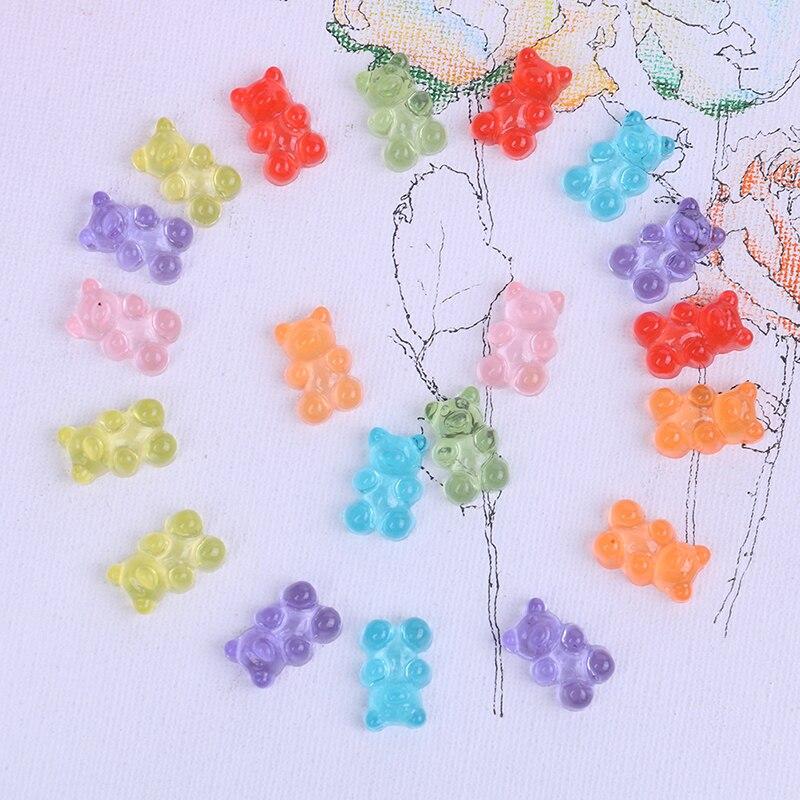 Мини-медведь конфеты полимерный слайм коробка игрушка для детей Смола форма талисманы Лизун моделирование Полимерная глина Diy Аксессуары д...