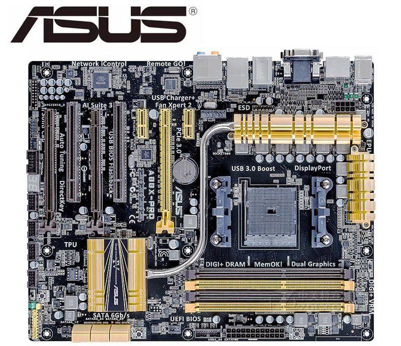 ل ASUS A88X-PRO سطح المكتب اللوحة A88X المقبس FM2/FM2 + DDR3 PCI-E 3.0 USB3.0 SATA3.0 تستخدم لوحات الكمبيوتر