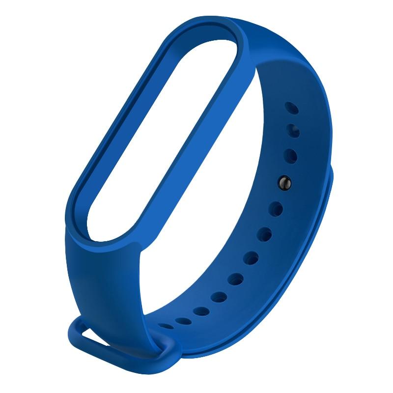 Pulsera correa de pulsera reloj inteligente de silicona correa para Mi banda 5 M5 deportes pulsera Multicolor de reemplazo Correa correa de reloj