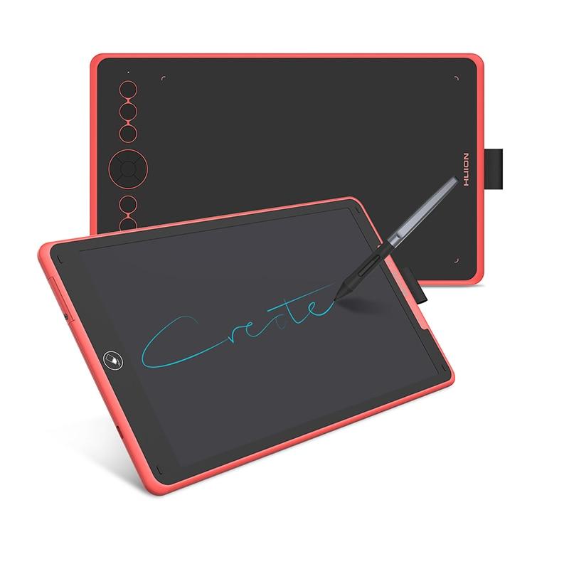 HUION H320M 2 في 1 جهاز كمبيوتر لوحي للرسومات لوح كتابة رقمي 8192 مستوى قلم رسم لوحي كمبيوتر لوحي LCD بشاشة للكتابة بطارية خالية من القلم