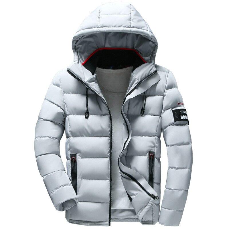 Nuevo abrigo Parkas de invierno para hombre with capucha... cálido informal... ajustado...