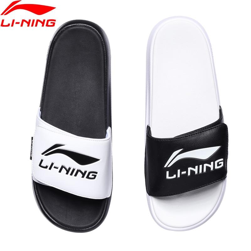 Li-Ning Men LN SLIPPER Stylish Slippers Breathable LiNing Sports Shoes Light Sandals Leisure Outdoor Beach Sandals AGAR009