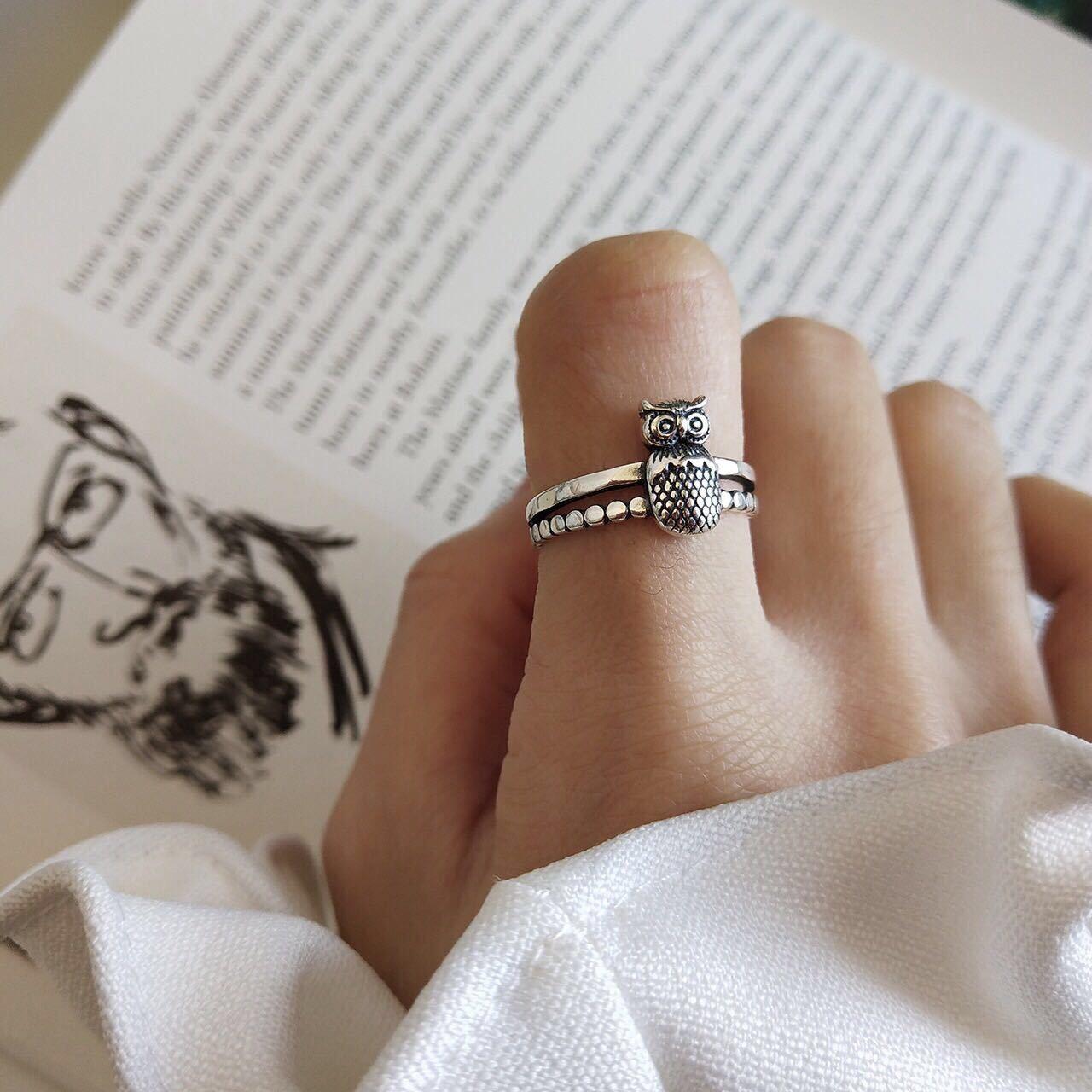 Корейское-изящное-женское-регулируемое-кольцо-в-виде-совы-животного-925-пробы-серебро