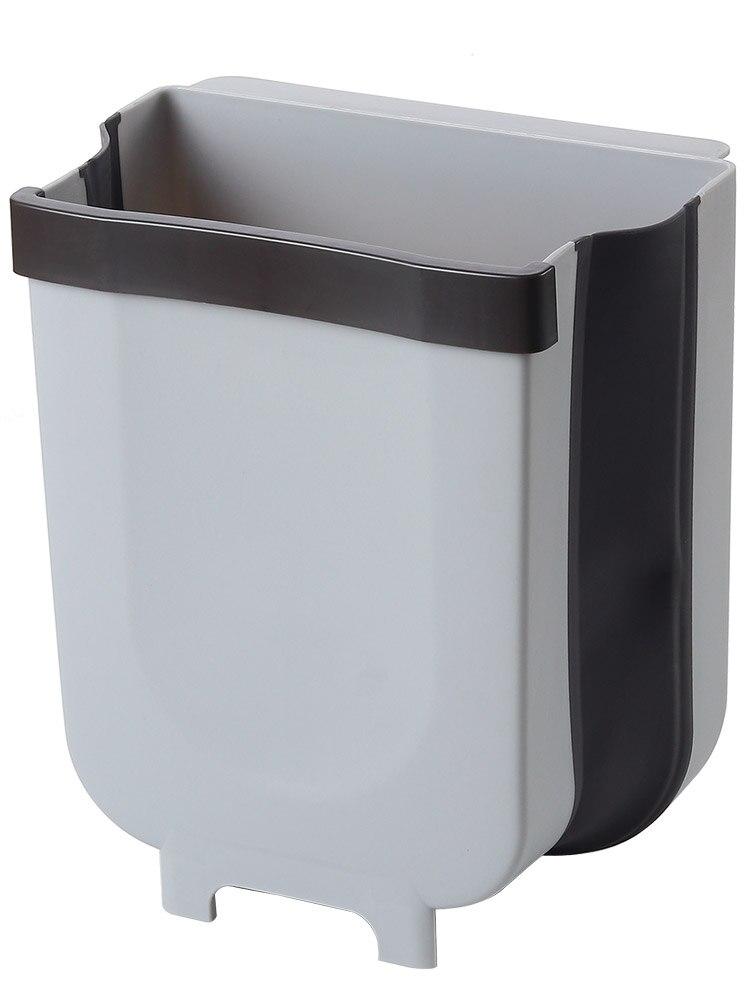 1pc Folding Mülleimer Küche Schrank Tür Hängen Papierkorb Mülleimer Wand Montiert Müllabfallbehälter für Bad Wc Abfall lagerung