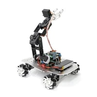 mecanum wheel bluetooth robot car chassis mechanical robotic arm remote control withwithout suspension system