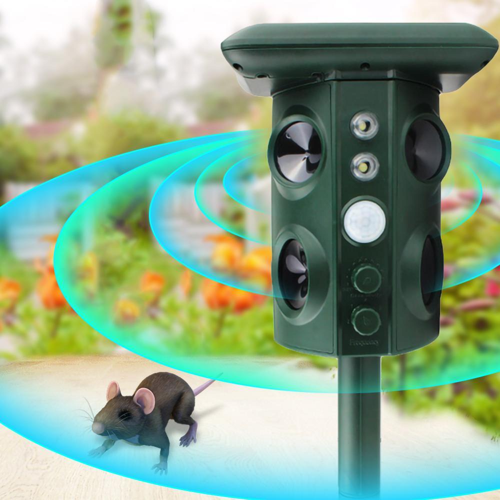 Solar Energie Ultraschall Tier Abweisend Wasserdicht Abweisend Katze Repeller Repellent Pest Control Garten Werkzeug Tier Repeller