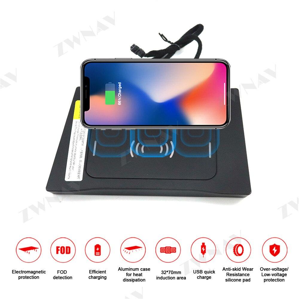 Cargador inalámbrico QI para coche de carga rápida para HYUNDAI IX25 2017 para Iphone XS Pro para Huawei P30 P40 Pro soporte de teléfono con Sensor infrarrojo