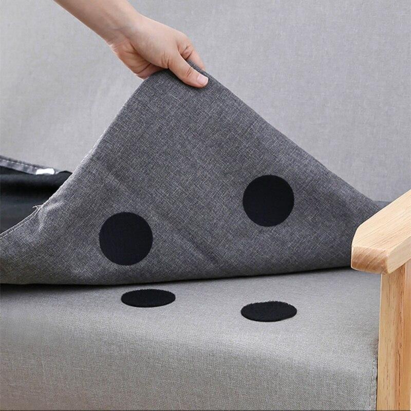 5 unids/set pegatinas de agarre de alfombra que no marcan la parte posterior de goma pegatina para sofá alfombrilla multiusos antideslizante de Velcro de doble cara