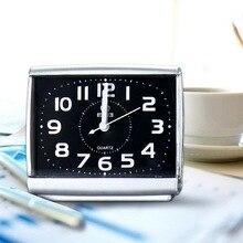 Fashion Square Wecker Schlafzimmer Desktop Bett Wake Up Uhren Schlafzimmer Neben Student Kunststoff Stummkehr Kleine Tisch Uhr