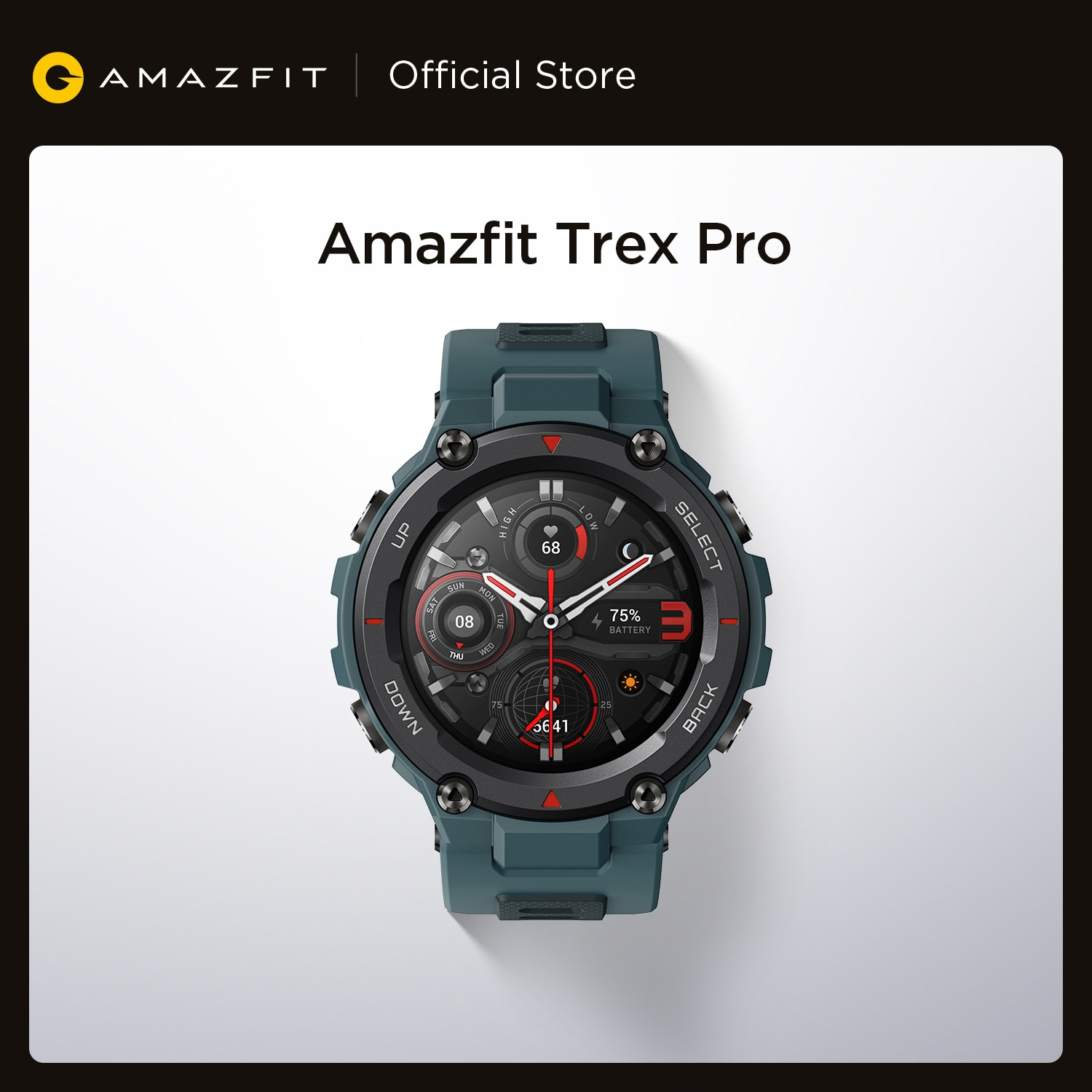 Review 2021 Amazfit Trex Pro Smartwatch 10 ATM Waterproof 18-day Battery Life 390mAh 100 Sport Modes Smart Watch For Android iOS Phone