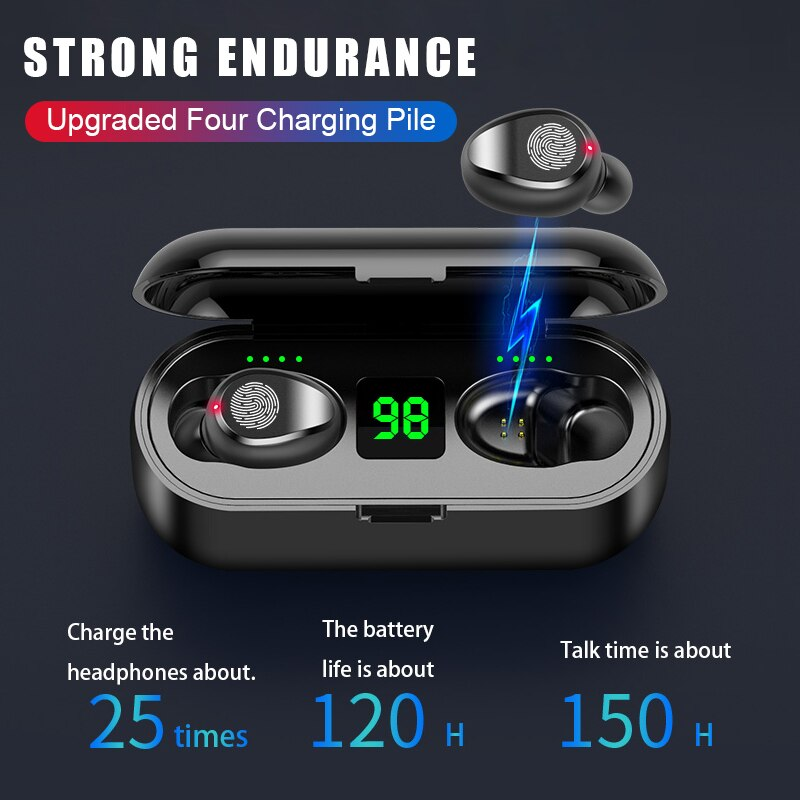 Bluetooth V5.0 Earphones Wireless Headphones With Microphone Sports Waterproof Headsets 2200mAh Charging Box New Earpods enlarge