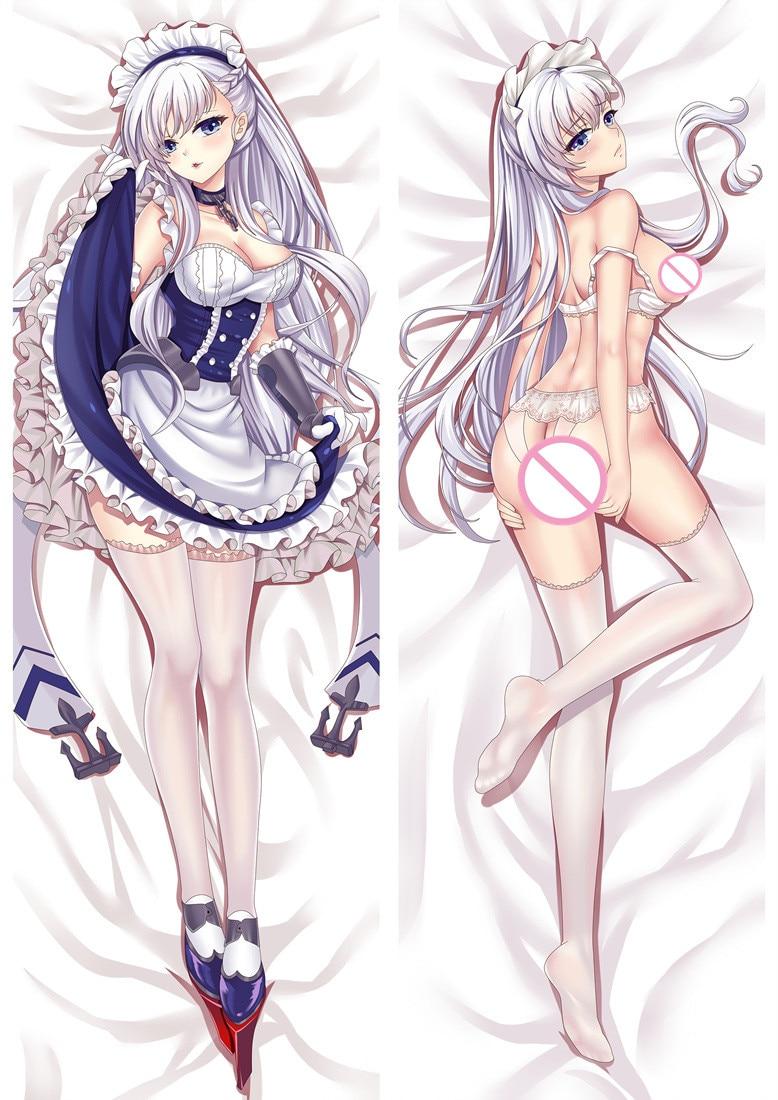 Anime juego chicas Sexy Belfast Beal Feirste funda de almohada grande caso funda de almohada de cuerpo de la cubierta