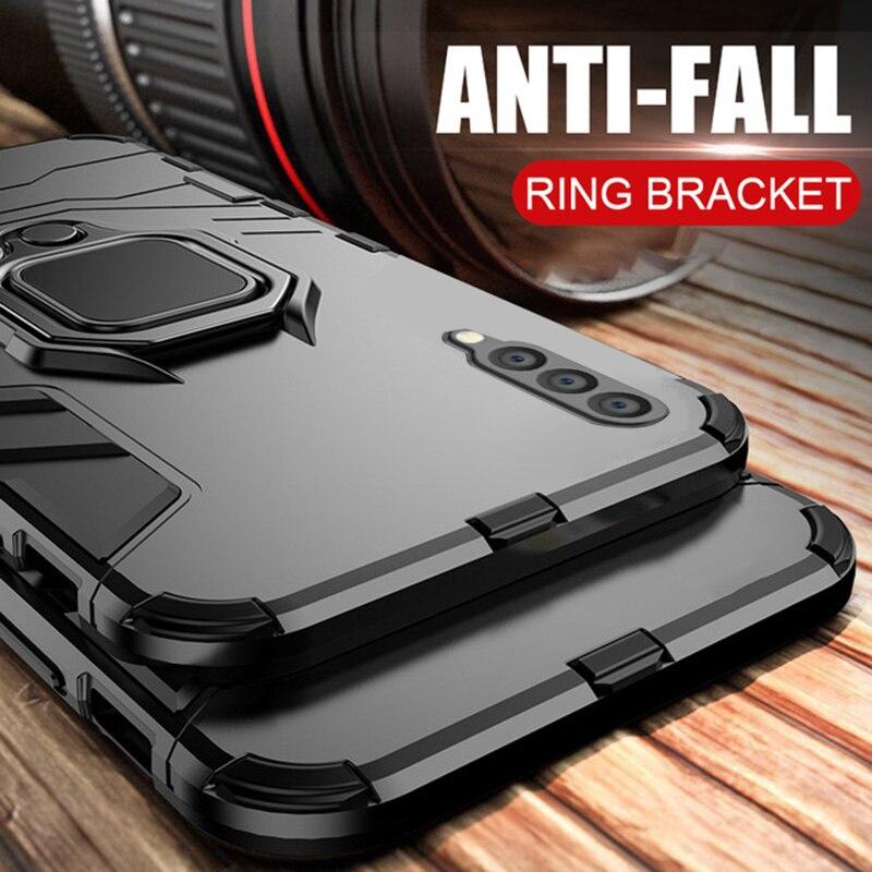KISSCASE Stoßfest Rüstung Fall Für Samsung Galaxy Note 10 Plus S8 S9 S10 S10e A30 A50 A7 2018 Magnet Ring halter Abdeckung Fall