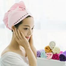 Beautiful girl's towel cap quick-drying hair mask microfiber shower cap bath magic dry cap quick-dry
